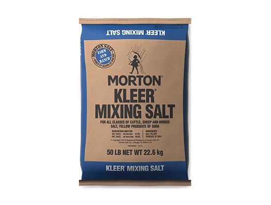 Morton Kleer Mixing Salt - 50Lb Bag - Caudill Seed Company