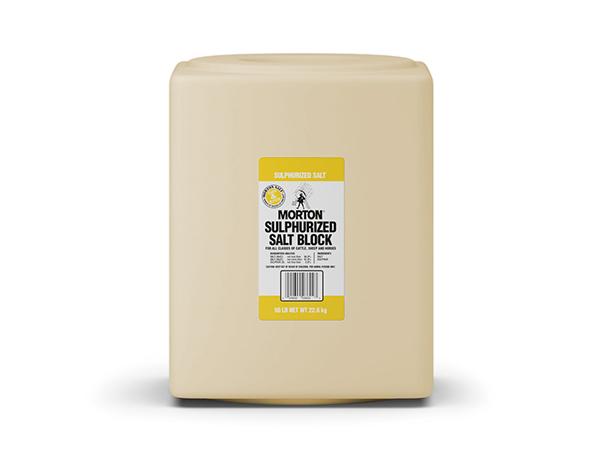 Morton Sulphurized Salt Block - Caudill Seed Company