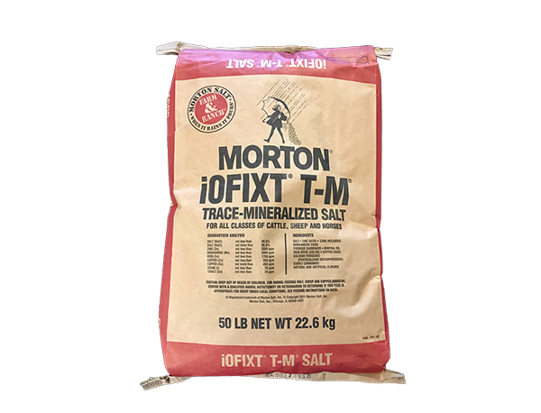 Morton Trace Mineralized Salt -50lb Bag - Caudill Seed Company