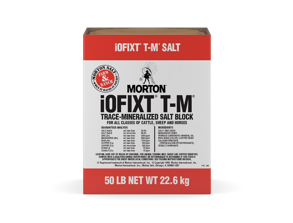 Morton Trace Mineralized Salt Block with Sleeve - Caudill Seed Company