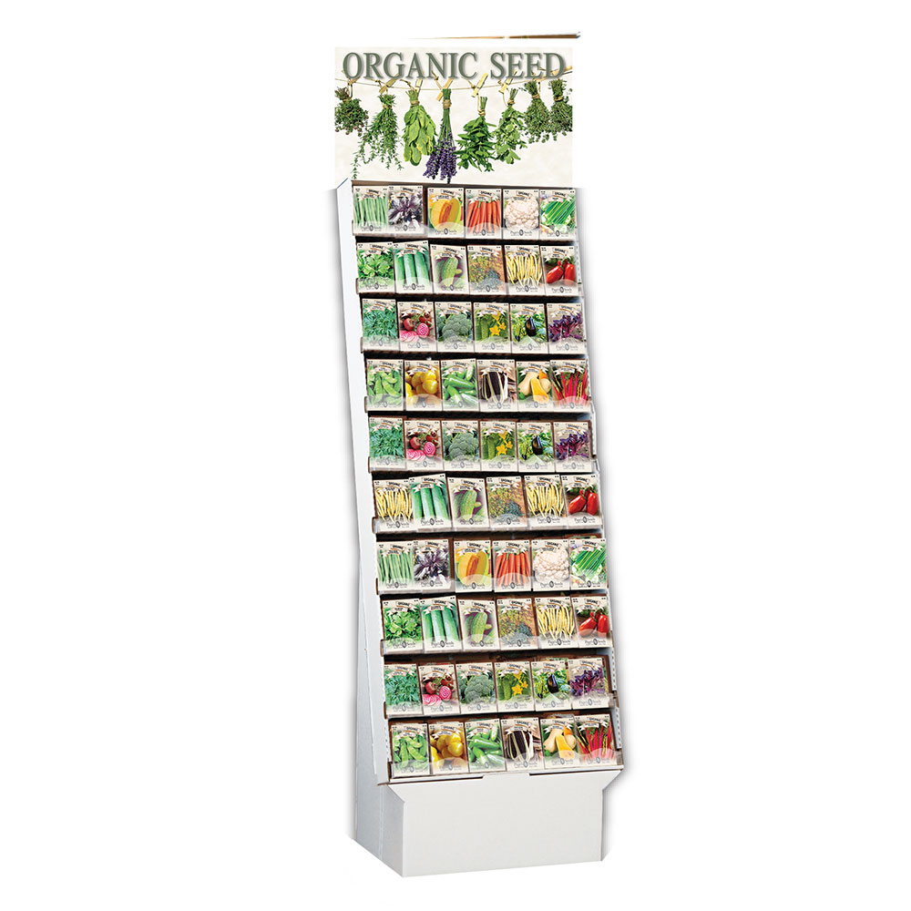 Organic Vegetable and Herb Assortment, Floor Display - Caudill Seed Company