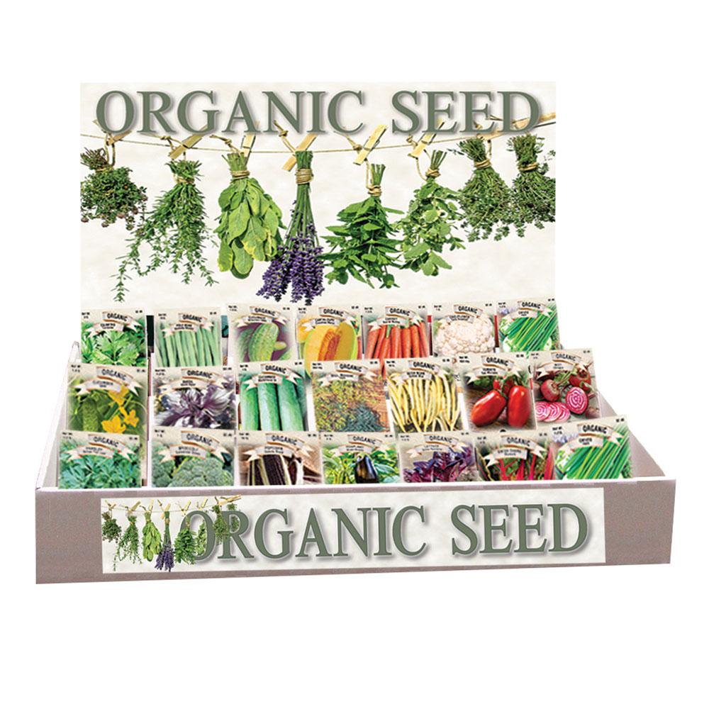 Organic Vegetable Assortment, Top Display - Caudill Seed Company