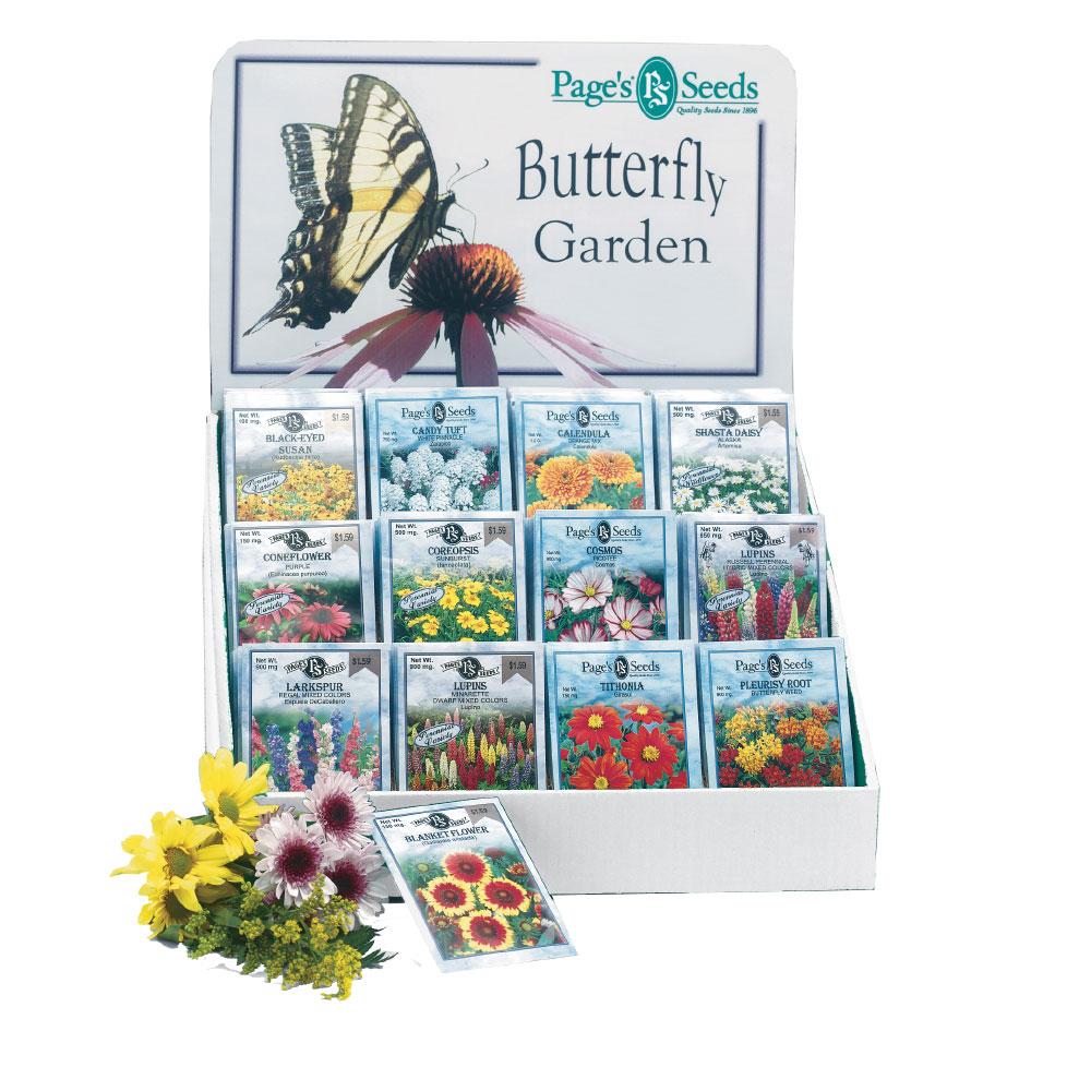 Page's Butterfly Collection 12 Pocket Counter Display - Caudill Seed Company