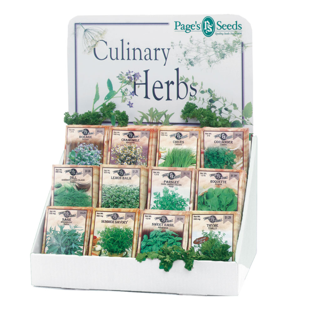 Page's Culinary Herb Collection Counter Display - Caudill Seed Company