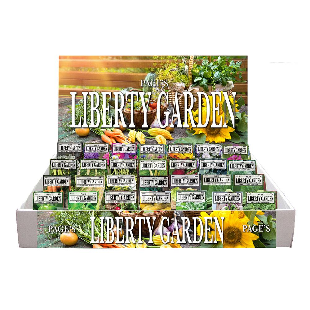 "Liberty Garden Standard ""All Vegetable"" Assortment, Counter Display - Caudill Seed Company"