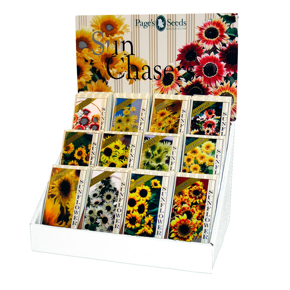 Pages Sun Chasers Sunflower Counter Display - Caudill Seed Company