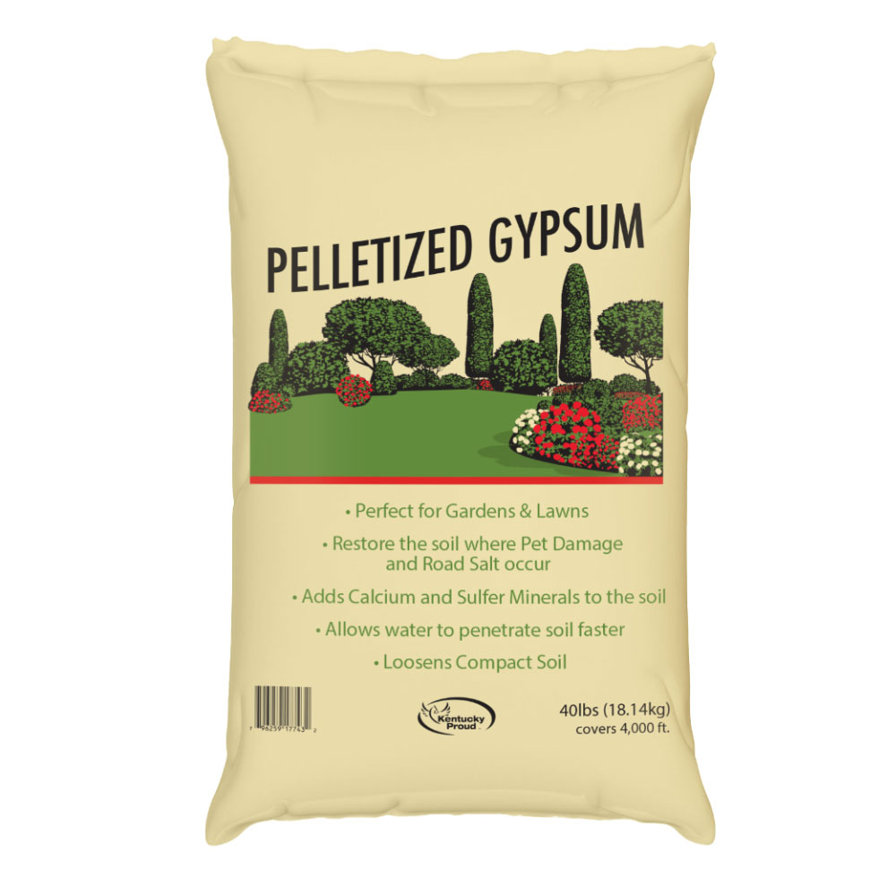 Pelletized Gypsum - 40 Lb Bag - Caudill Seed Company