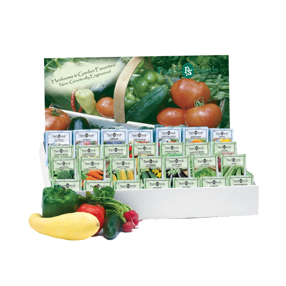 "Premium Standard ""Vegetable & Flower"" Assortment, Counter Display"