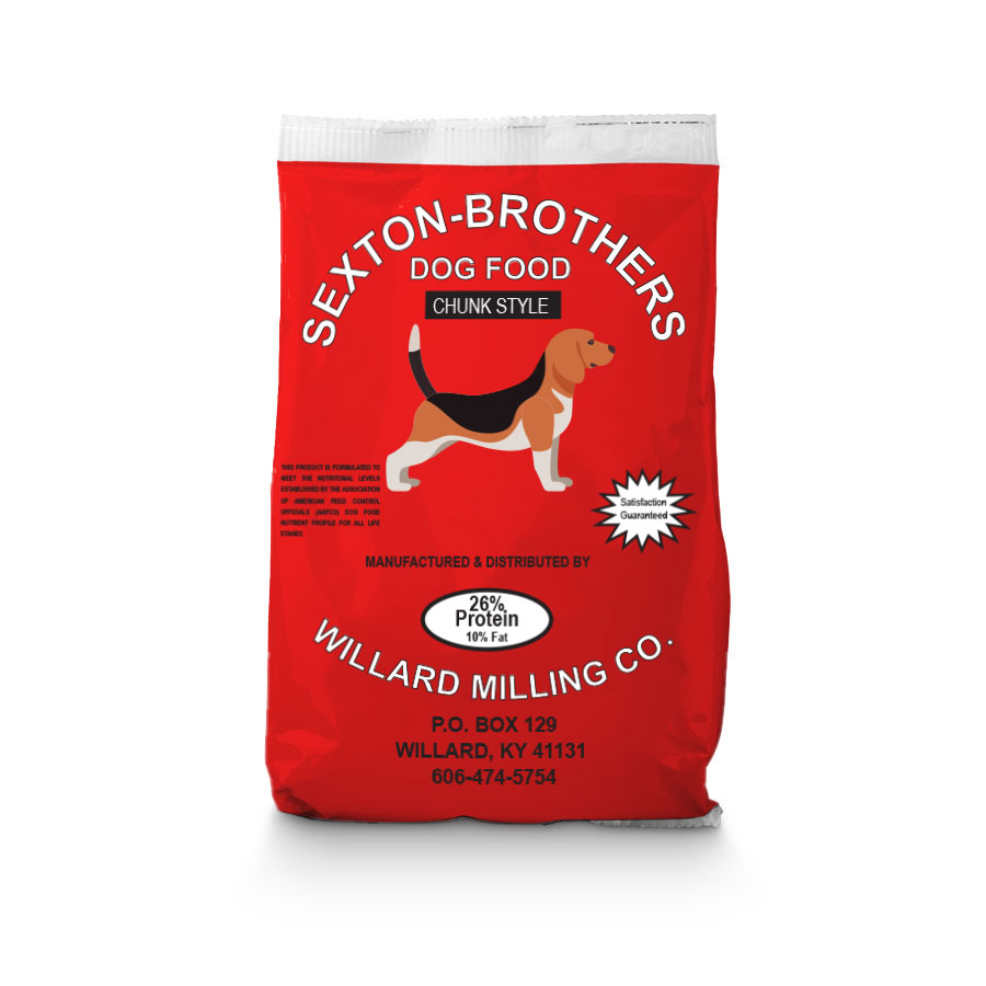 Sexton Brothers Dog Food - Chunk Style - 26% Protein - Caudill Seed Company